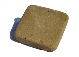 Песчаник Серо-зелёный Брусчатка 100х100х40 галтованная