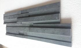 3D панели Black Grafite 600х200х8-20,натуральный скол